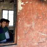 School building destroyed in fire in Kashmir